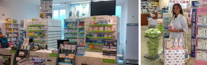 Allestimento in farmacia e giornata promozionale